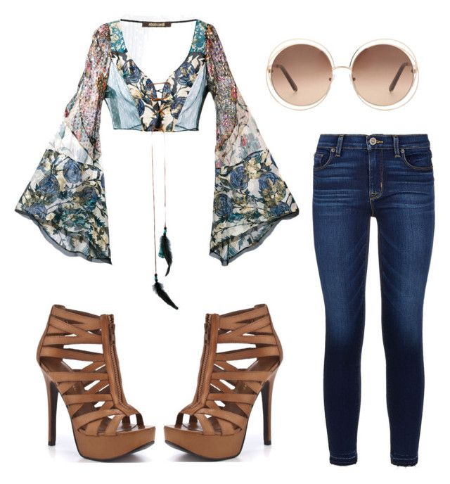 """""""Happiness"""" by mlilsw on Polyvore featuring Roberto Cavalli, Hudson, Chinese Laundry and Chloé"""