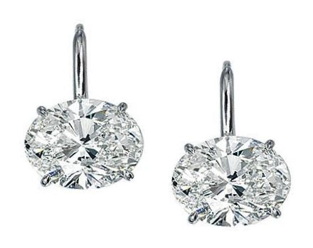 One Of A Kind Oval Diamond Stud Earrings D Flawless 2 03 Tcw Signature Ideal