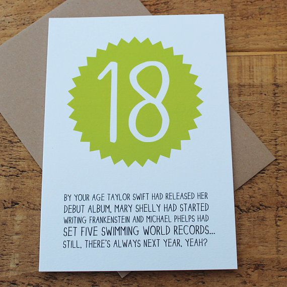 Funny 18th Birthday Card / Funny Birthday Card / Funny 18