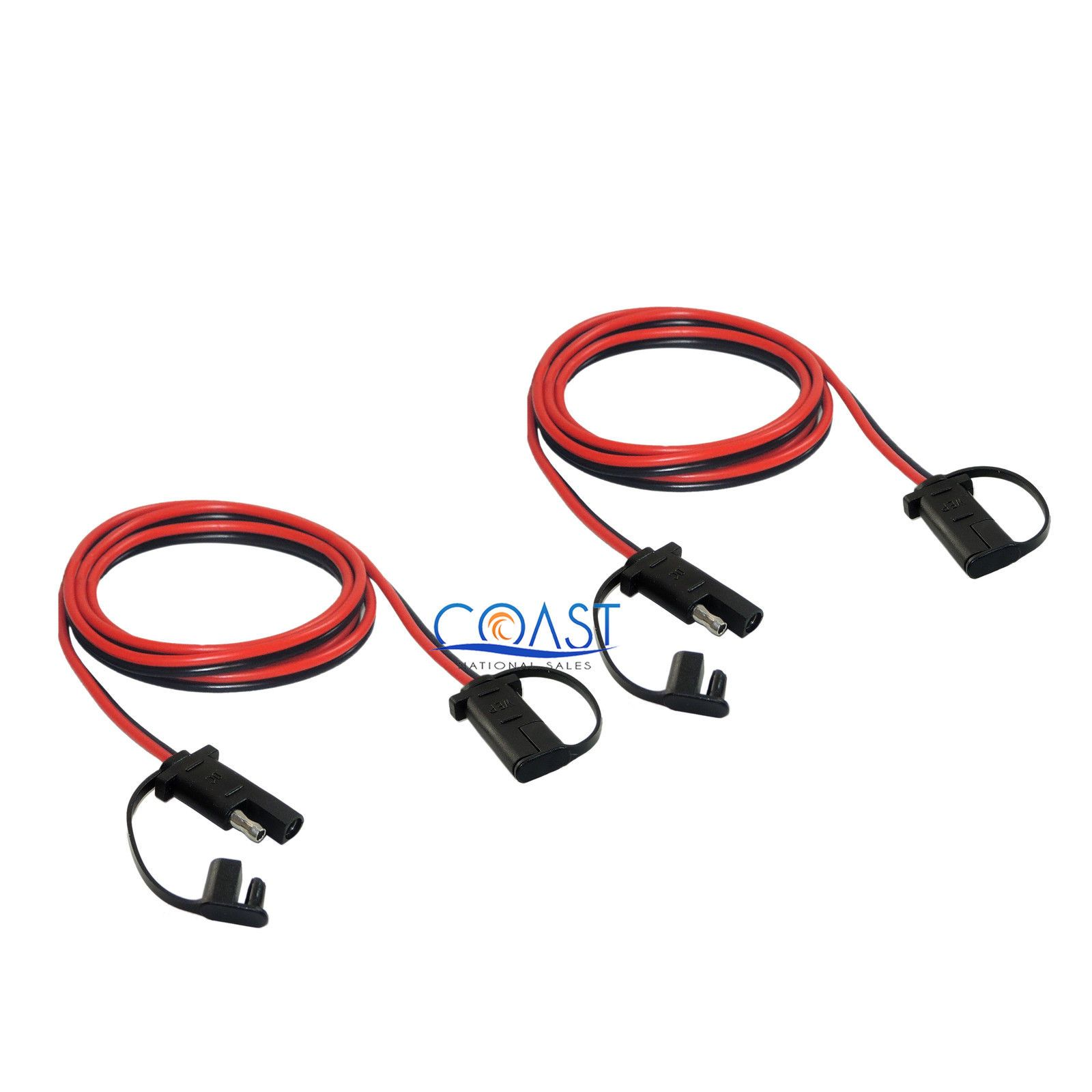 2x Car Quick Disconnect Connect 16 Gauge 2 Pin 48 Sae Waterproof Wire Harness 1175