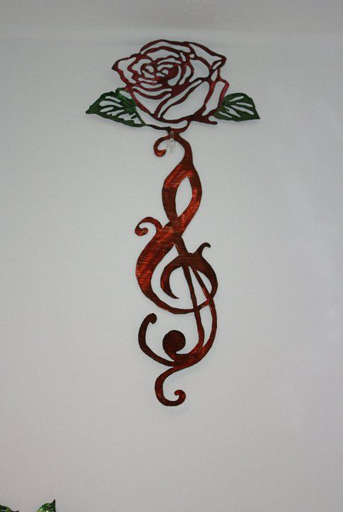 Rose On Music Note Andrew S Art Music Tattoos Music