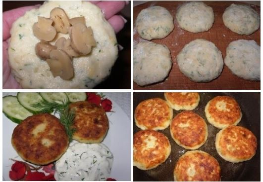 Potato zrazy with mushrooms.