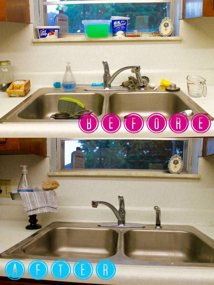Diy Kitchen Sink Organizer Kitchen Sink Organization Dollar Store Organizing Kitchen Kitchen Sink Diy