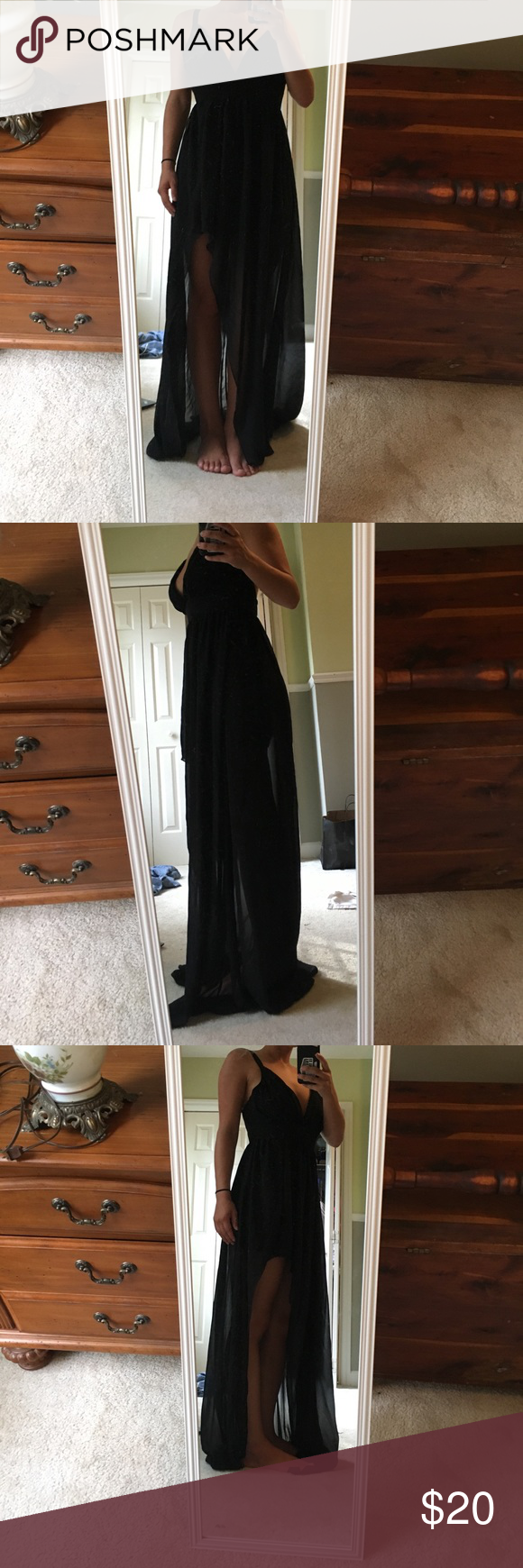 Black Formal Maxi Dress medium In great condition. Worn once. Perfect for any formal occasion, or the beach. Dresses Prom