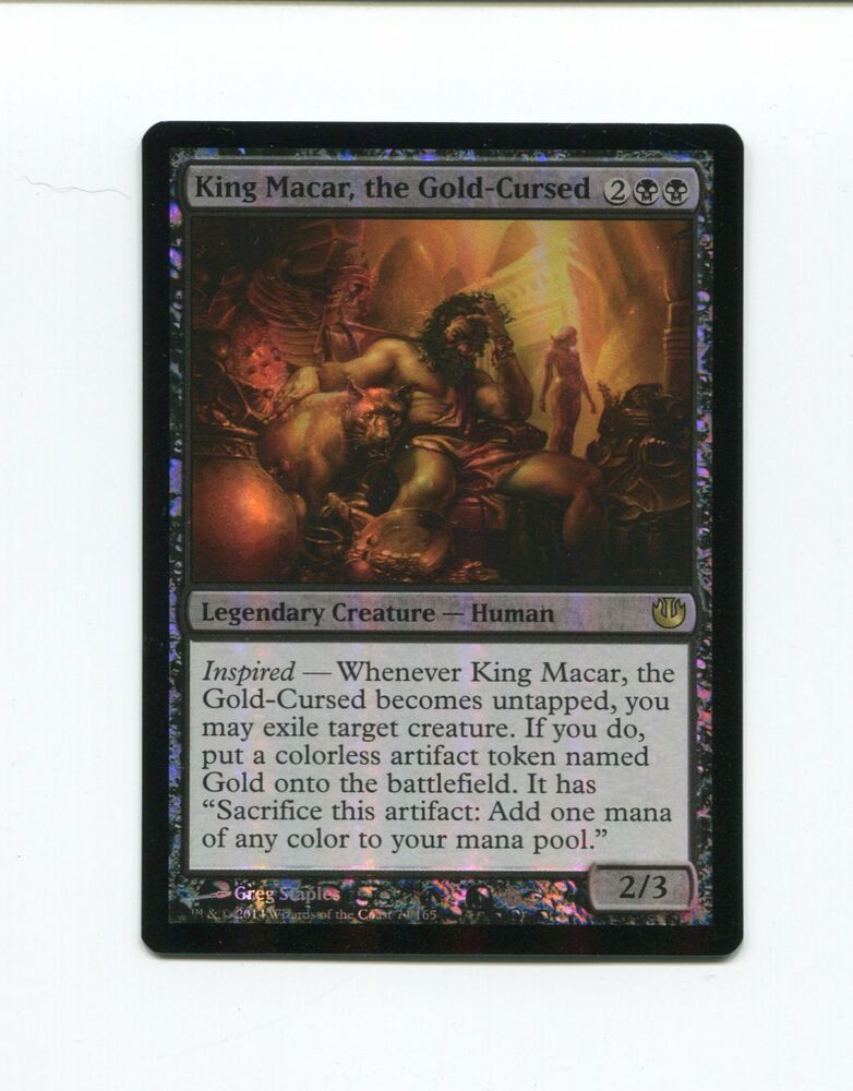 King Macar the Gold-Cursed FOIL Journey into Nyx NM Black Rare CARD ABUGames