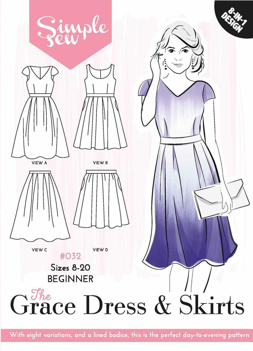 The simple sew grace dress u skirts dress skirt sewing patterns