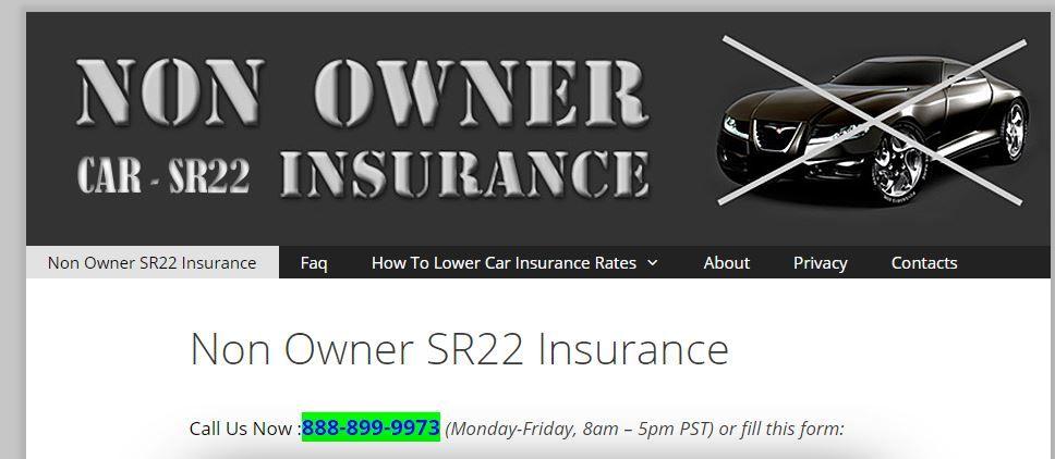 Pin On Non Owner Sr22 Insurance
