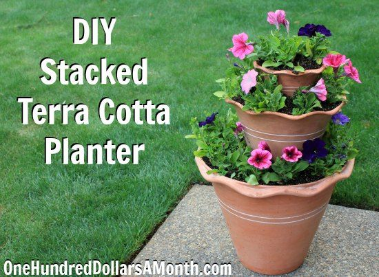 Container Gardening, DIY, Stacked Terra Cotta Planter, Container Garden,  Gardening, Gardening Projects, Gardening 101, Gardening Hacks, Gardening  Tips, ... Gallery