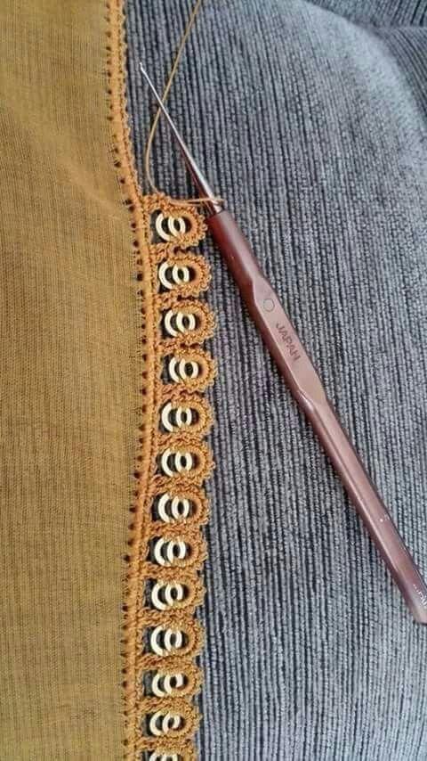 Crochet oya using two rings