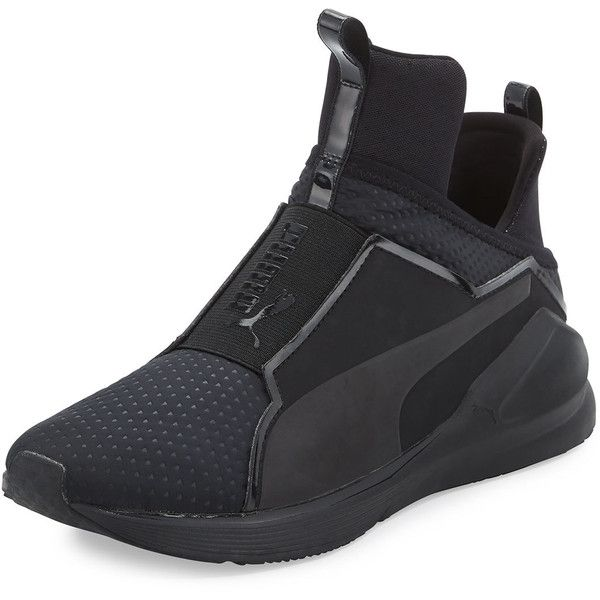 61d40b45e0a Puma Fierce Quilted High-Top Sneaker ($100) ❤ liked on Polyvore featuring  shoes, sneakers, high top sneakers, puma high tops, quilted sneakers, ...