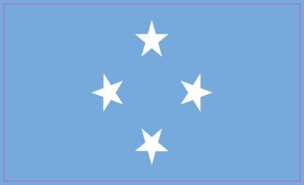 5in X 3in Federated States Of Micronesia Flag Sticker Car Bumper Stickers Micronesia Flag Federated States Of Micronesia Micronesia