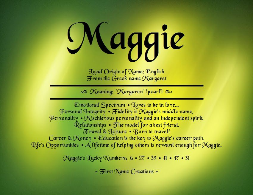 Maggie name meaning first name creations names with