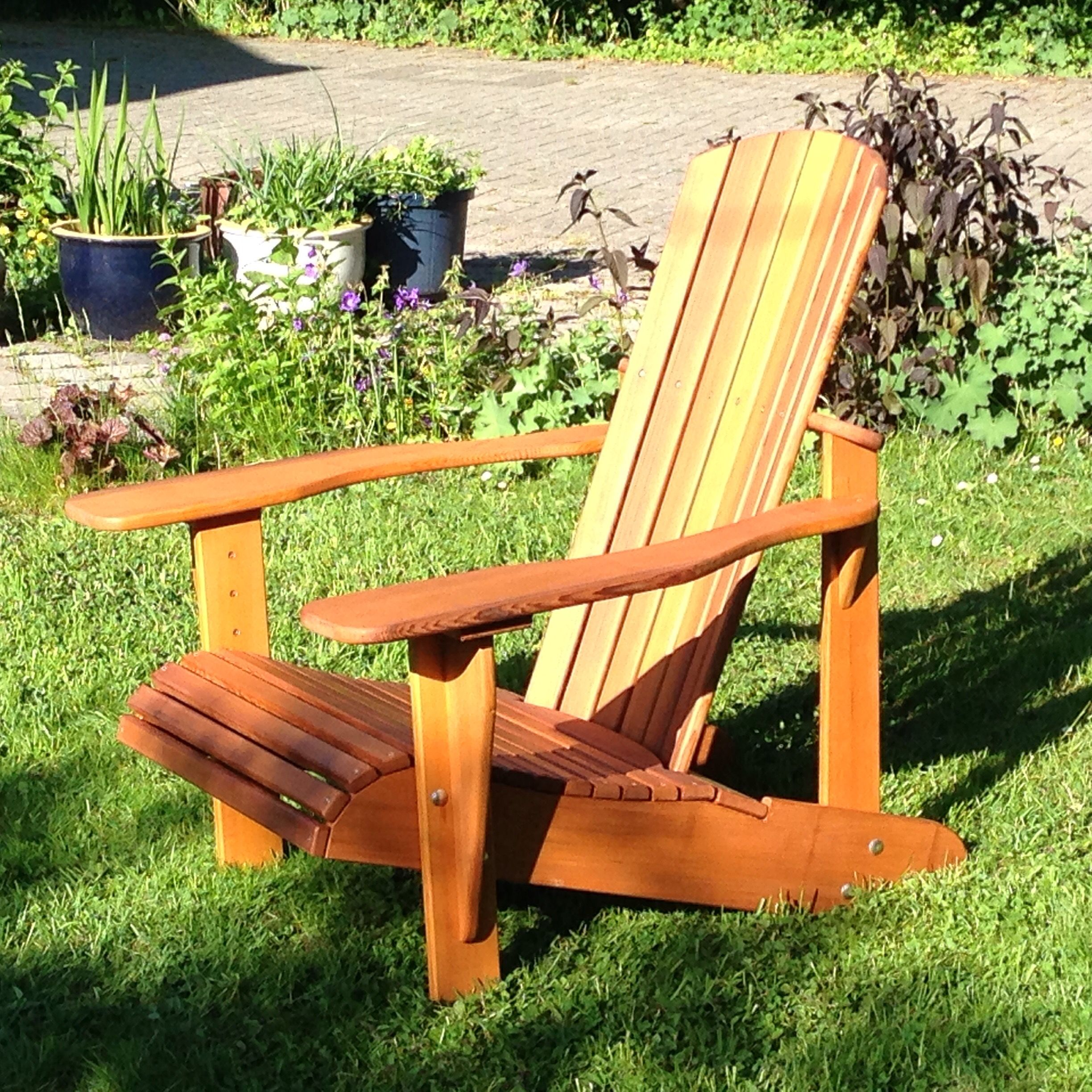 my very first woodworking project adirondack chair made of red