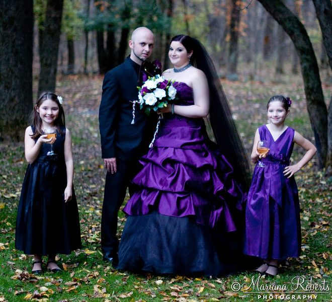 Gothic wedding photography Tim Burton Halloween style wedding at