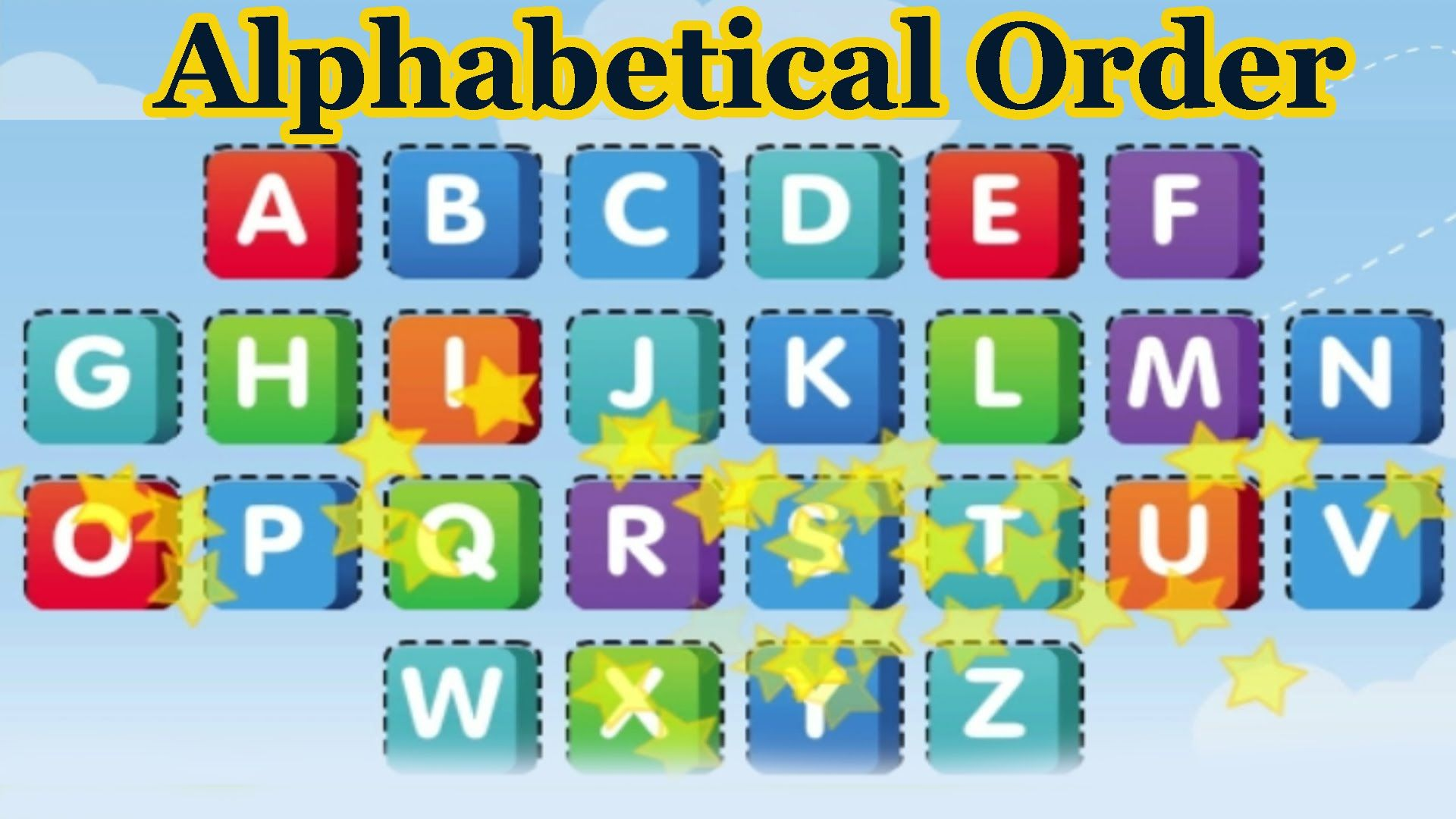 Put the Alphabet in Alphabetical Order, Alphabet Songs, 3D ...