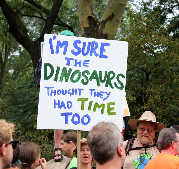 Pretty Awesome Signs From the People's Climate March in New York City