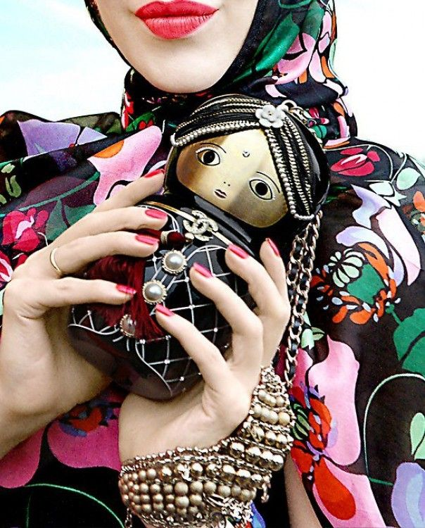 dc0e4e8d421675 Chanel Matryoshka Hijab Fashion, Fashion Bags, Fashion Accessories, Fashion  Beauty, Doll Accessories