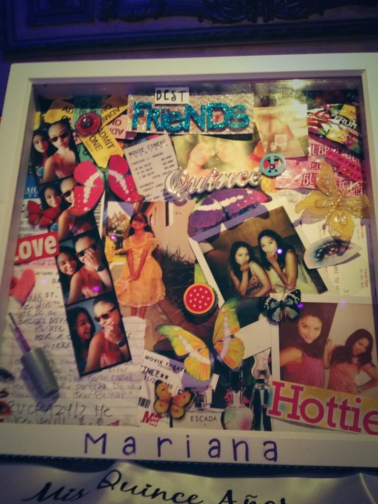 Scrapbook ideas for bff - Lexi S Present To Mariana For Her Quinceanera Thefosters