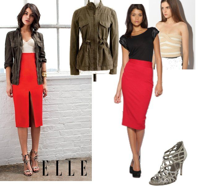 How To Wear High Waisted Pencil Skirt