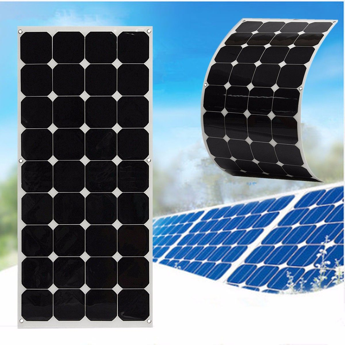 Us 219 93 Elfeland Sp 23 130w 18v Sun Power Semi Flexible Solar Panel With 1 5m Cable Arduino Compatible Scm Diy Kits From Electronics On Banggood Com Flexible Solar Panels Solar Panels Solar