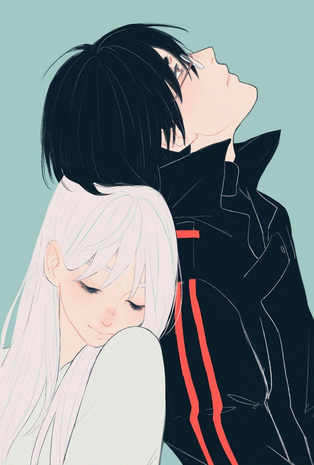 Cute Couple Digital Art Manga art, Anime art, Anime