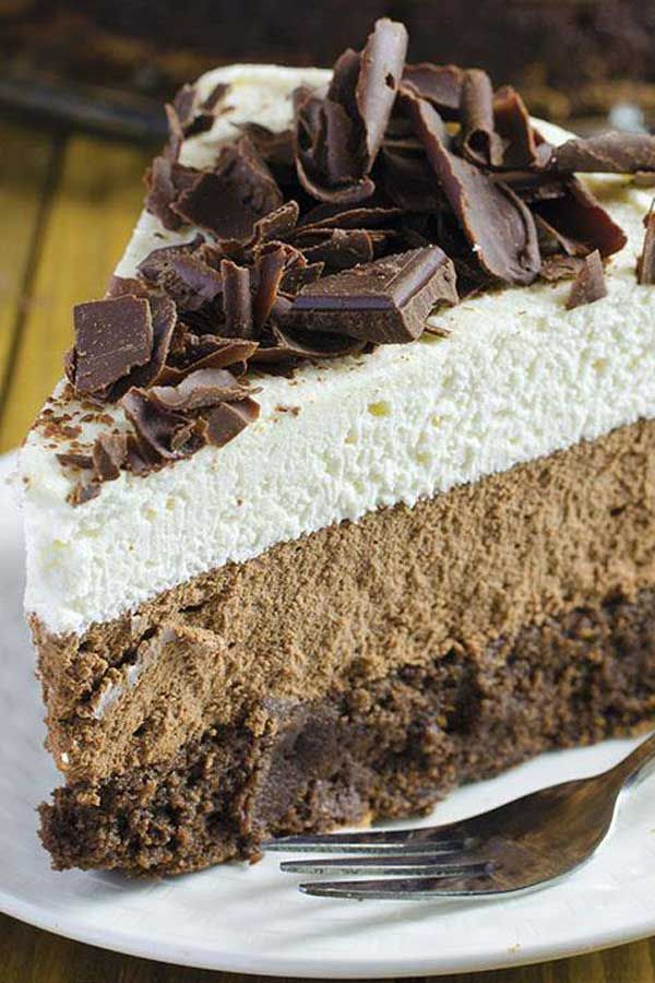 TRIPLE CHOCOLATE MOUSSE CAKE - When I begin to think about cakes, the first ingredient that comes t