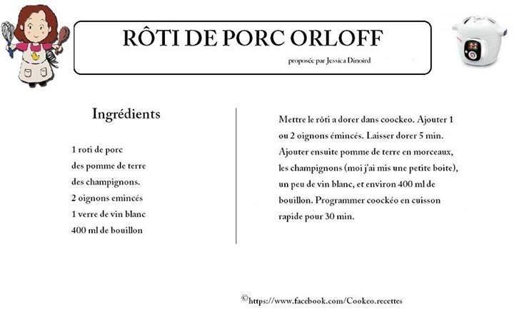 R ti de porc orloff cookeo cookeo pinterest roti - Cuisiner roti de porc ...