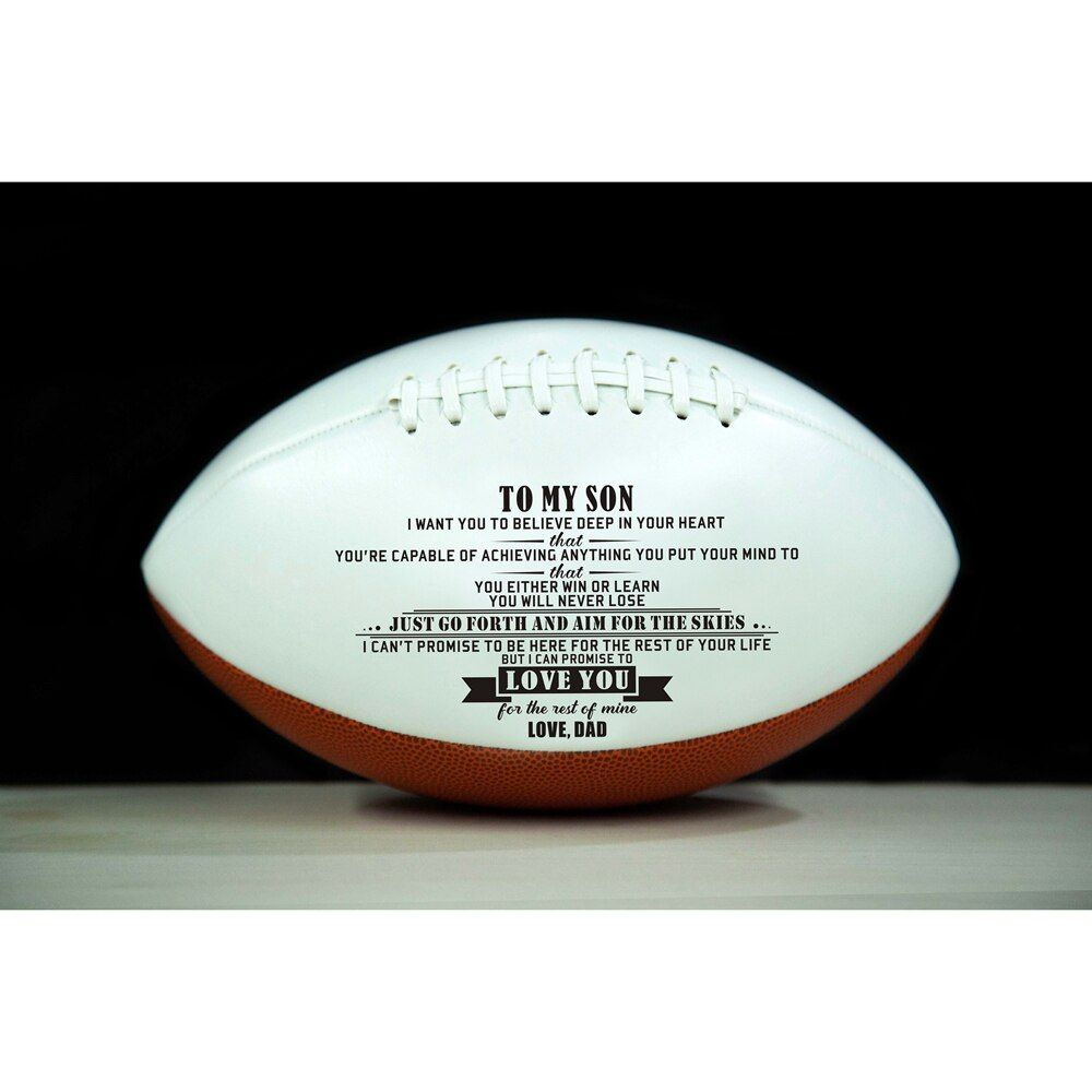 Best Gifts For Your Beloved Son Dad To Son Gifts Outdoor Sport Rugby Ball American Football Ball Vintage For Colleg In 2020 Rugby Ball Football Ball American Football