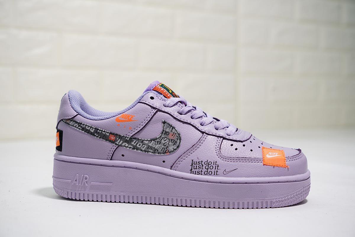 Wmns Nike Air Force 1 Prm Just Do It Purple Violet 2020