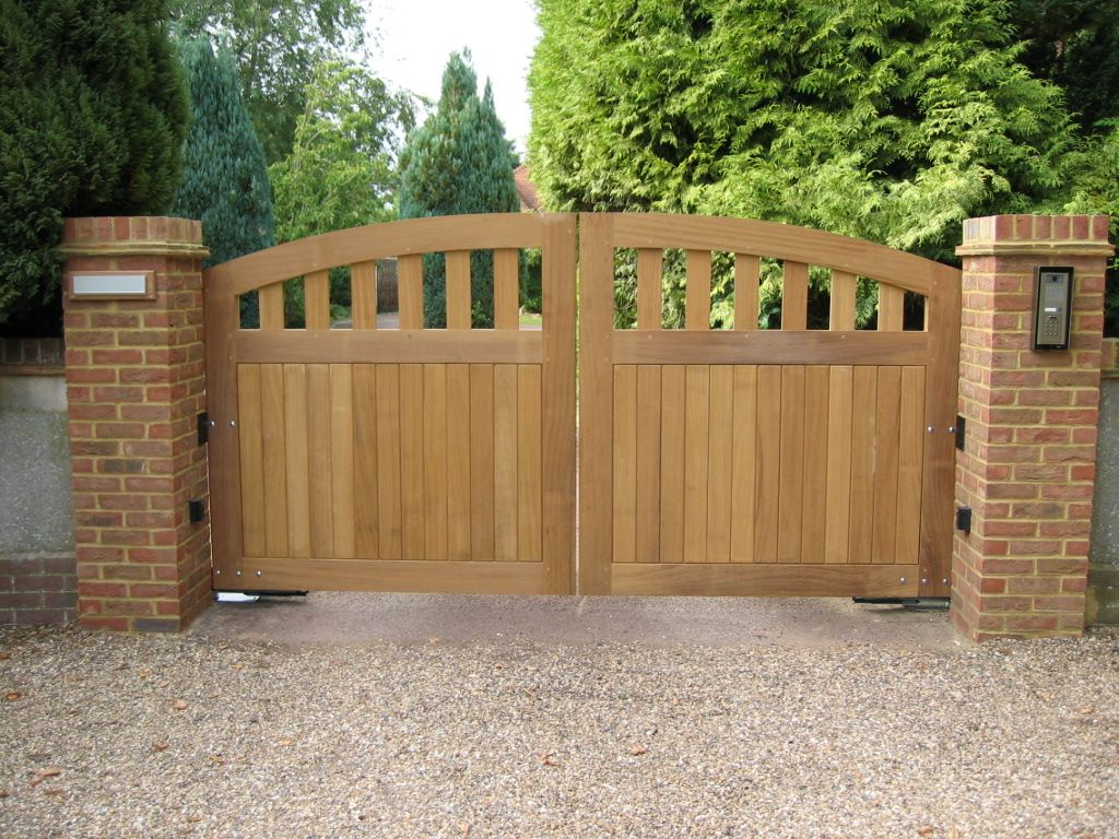 Engaging Picture Of Home Exterior Decoration With Various Wooden Gate G