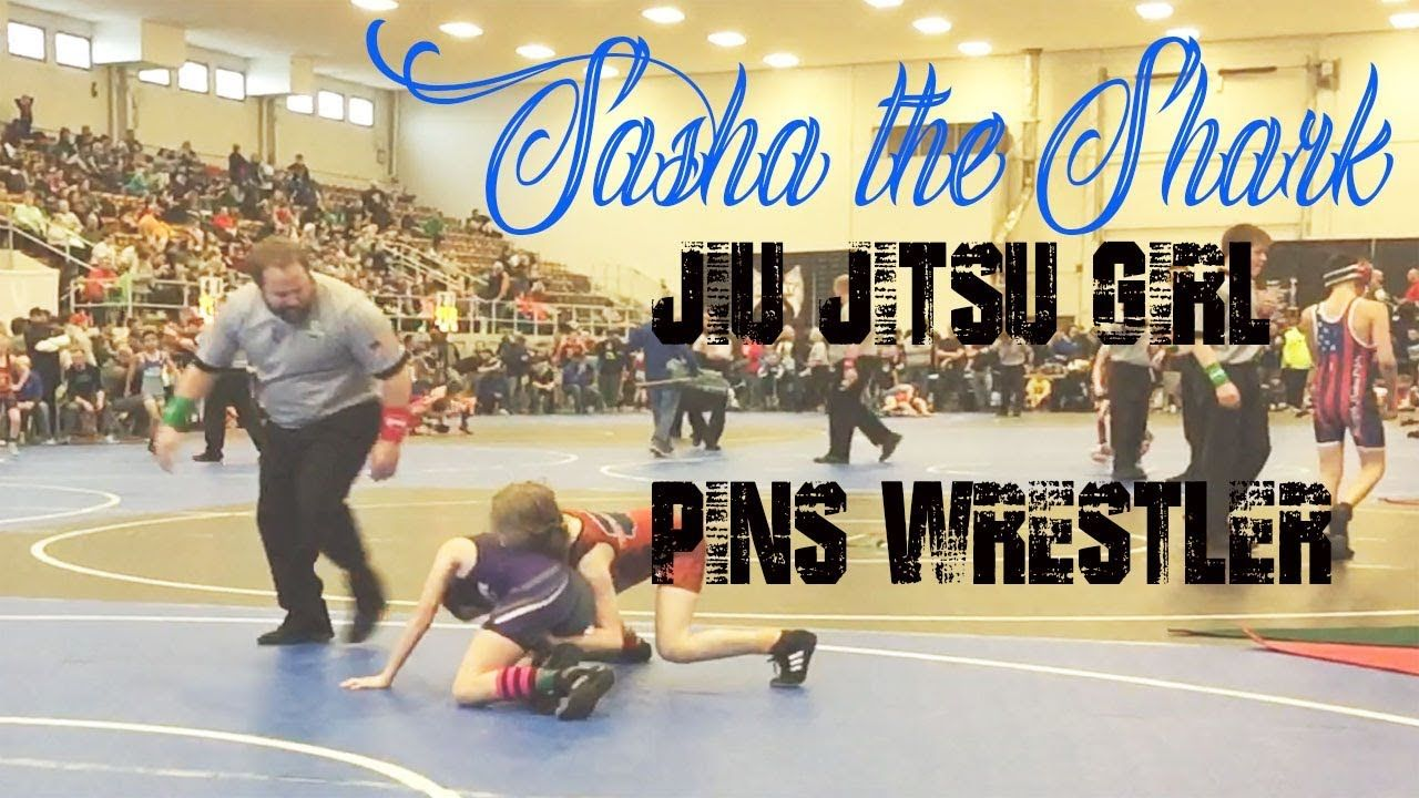 KIDS WRESTLING, Jiu Jitsu Girl pins Wrestler | Jiu Jitsu by Sasha