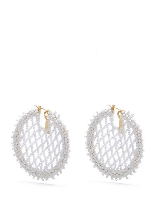 Perle Boucles D'oreilles Stud Embelli - Blanc Oscar De La Renta JWo92