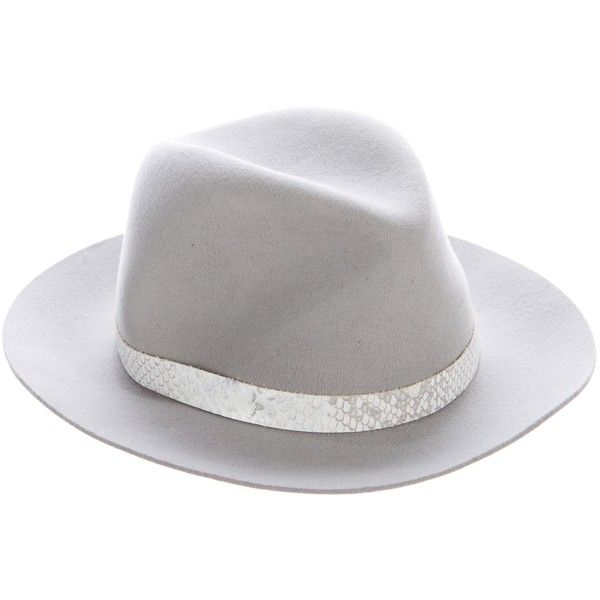 a75dfa32135 Pre-owned Rag   Bone Wool Fedora Hat ( 85) ❤ liked on Polyvore ...