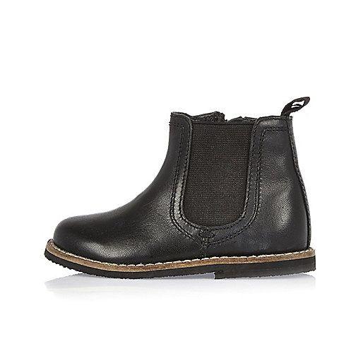 baby boy black chelsea boots