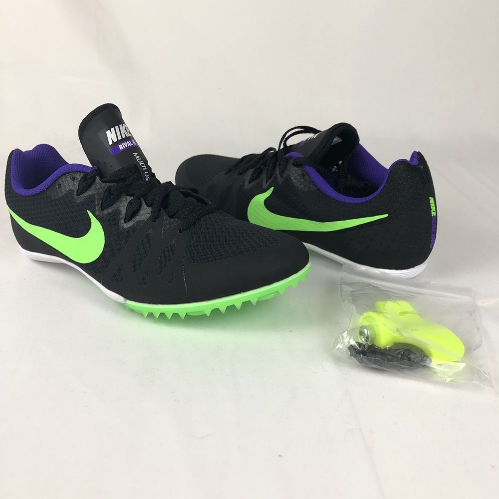 201d30cbf00a5 New Mens US Size 9 NIKE ZOOM RIVAL MD 8 Track Spikes 806555-035 Black