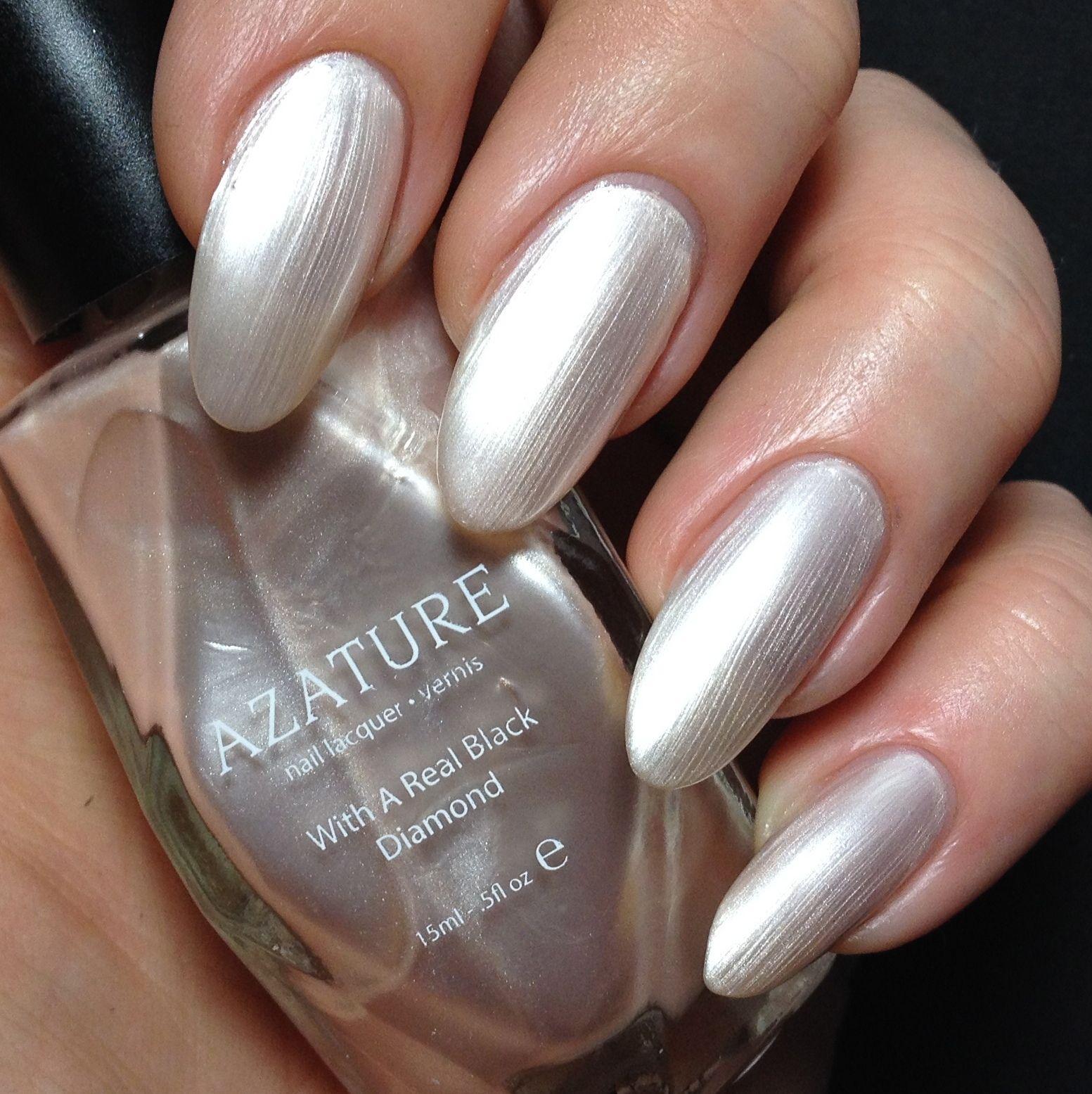 Azature black diamond nail polish in Bronze Diamond. The entire 40 ...