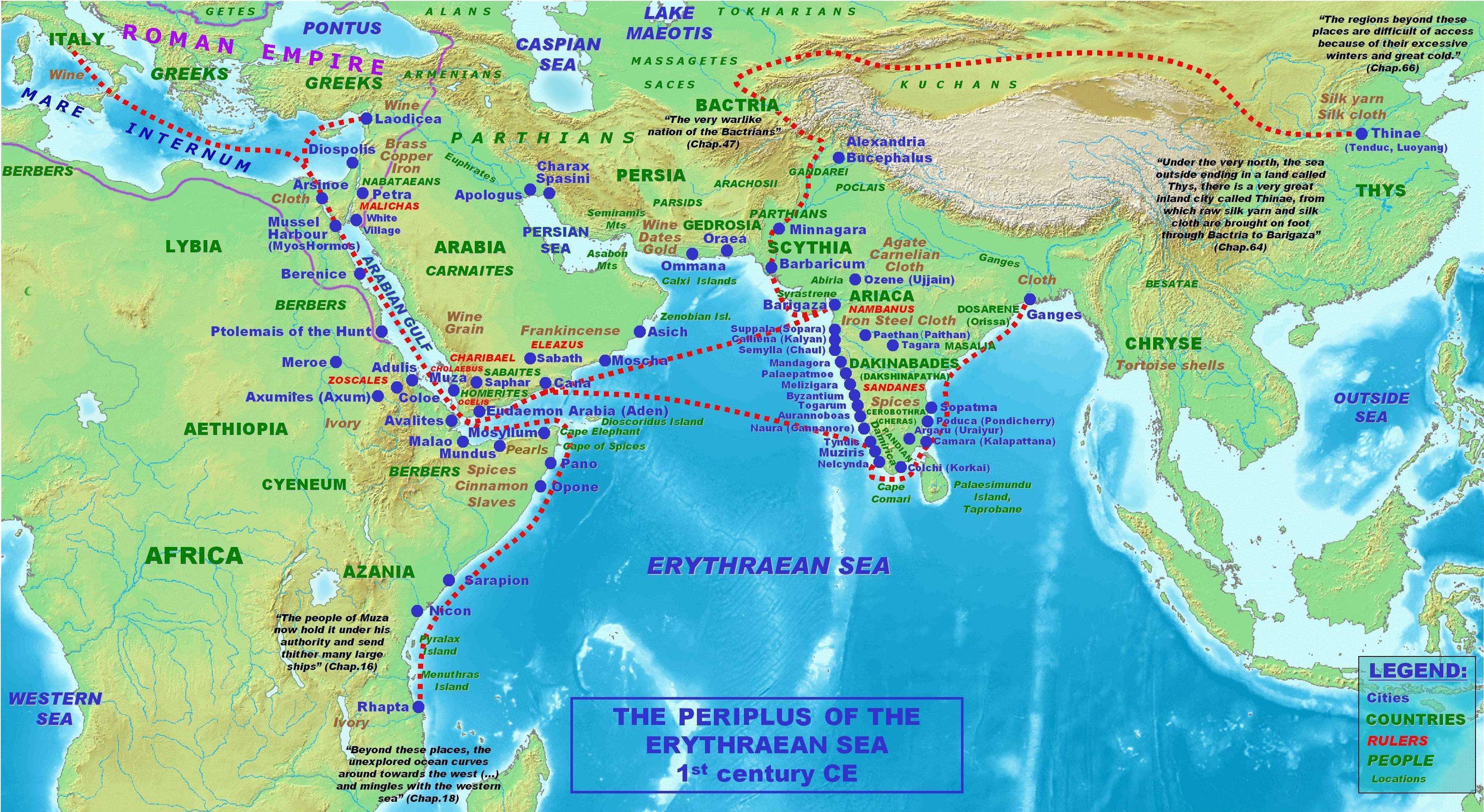 Periplus Of The Erythraean Sea Google Search