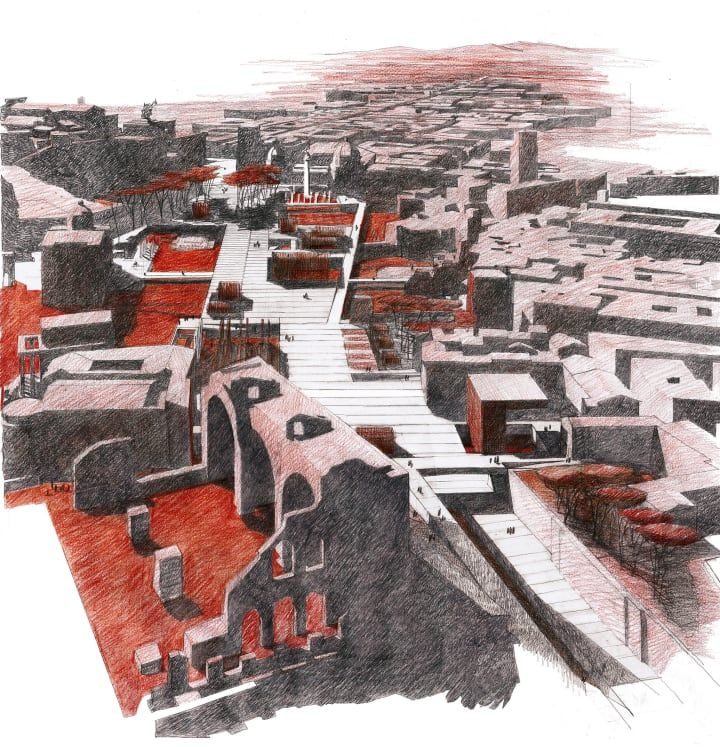 The Topographical Discontinuity Between Ancient and Modern City