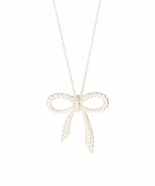 Look at this Sterling Silver Twist Bow Pendant Necklace on #zulily today!