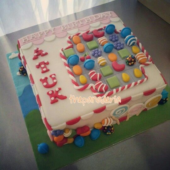 Candy crush birthday cake!