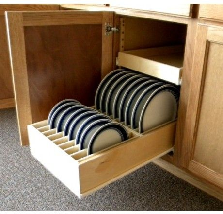 Dinner Plate Pull Out Organizer Drawer Slide Out Shelves Llc