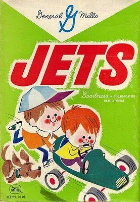 Vintage General Mills Jets cereal