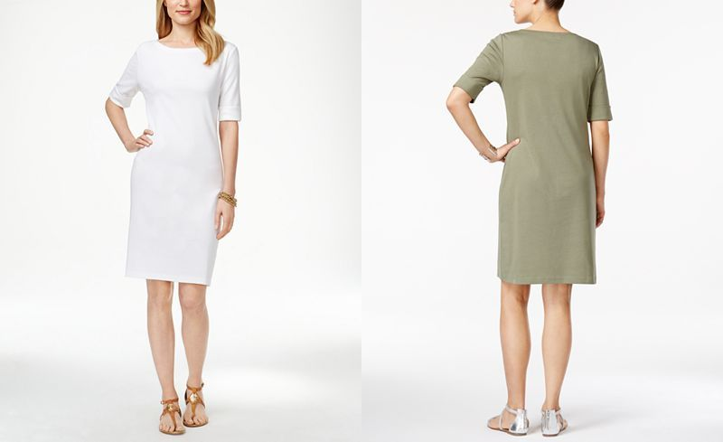 Karen Scott Petite T-Shirt Dress, Only at Macy's - Dresses - Women - Macy's
