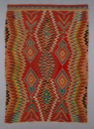"Navajo Northern New Mexico or Arizona, United States, ""Germantown Eyedazzler"" Rug"