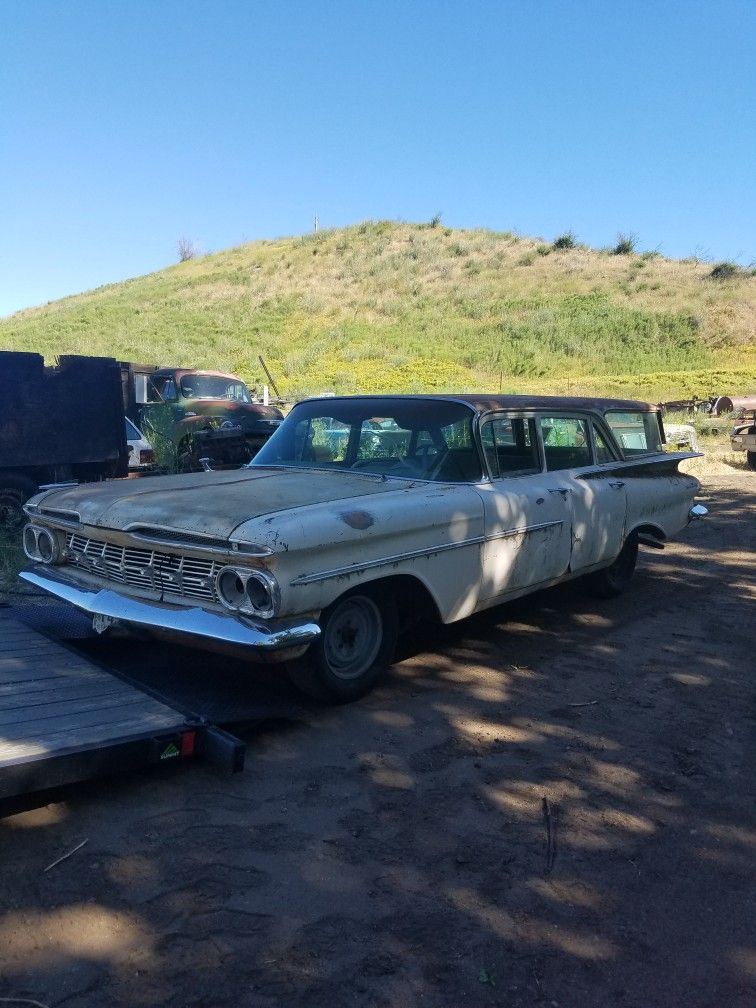 1959 Brookwood We Sell Original Classic Car Parts Specialize In 1959 1960 Gm Chevy Buick Pontiac Oldsmobile We Also Have Classic Cars Cars For Sale Wagon