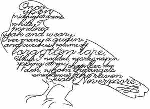 Embroidery isn't just for Grandma. Edgar Allan Poe's