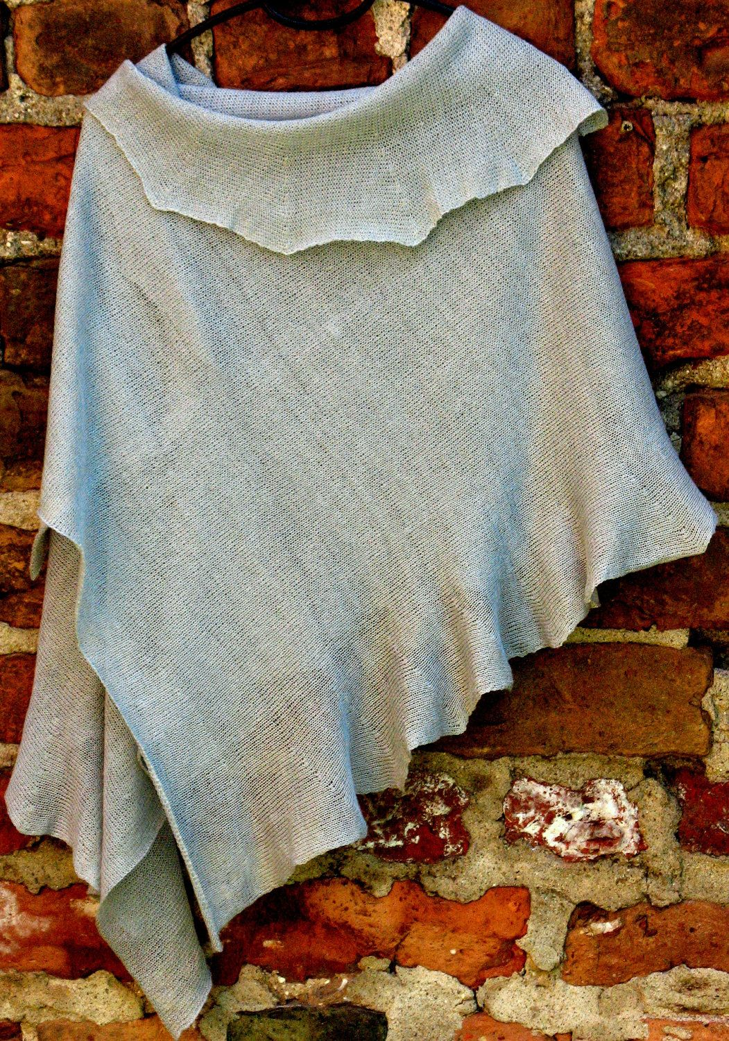 Scarf Shawl Wrap Stole linen pigeon gray. $64.00, via Etsy.
