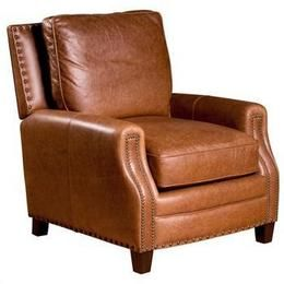 Bradford Club Chair Nail Heads, Chaps Saddle Leather by Opulence Home  Furniture