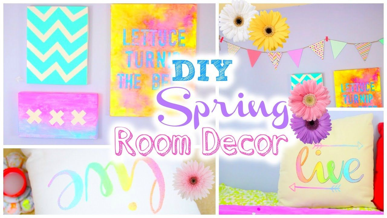 diy room decor for spring | tumblr inspired | girls rooms