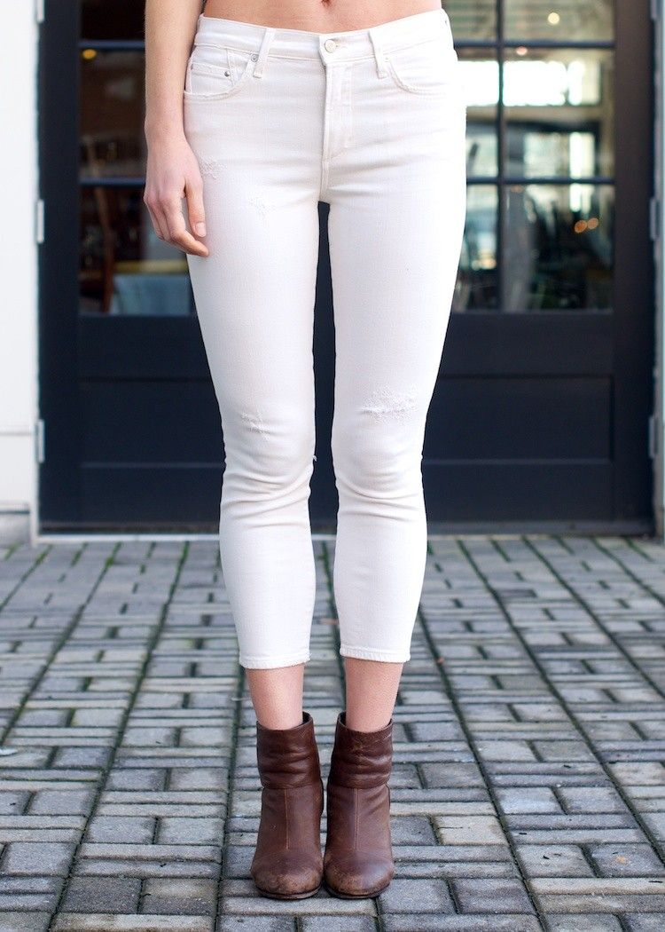 Citizens of Humanity Rocket Cropped-Natural   Winter white, White ...